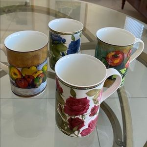 Royal Bone China Collector's Series Fruits/Roses
